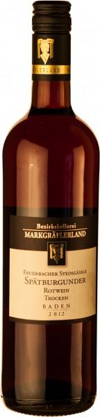 Markgräfler Spätburgunder Rotwein trocken 2018 Feuerbacher Steingäßle