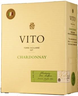 Vito Blanc Chardonnay Weisswein Sizilia IGT Weinschlauch 3 Liter