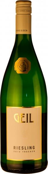 Johannes Geil Rheinhessen Riesling trocken 1,0 Liter Qualitätswein 2019