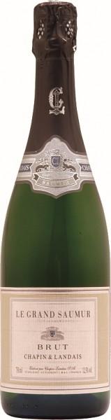 Chapin Grand Saumur Crémant Blanc de Blanc Brut Halbe Flasche 0,375 Liter