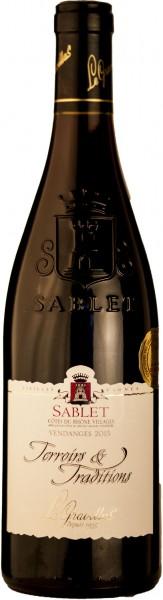 Gravillas Sablet Cotes du Rhone Rotwein