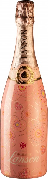 Lanson Champagner Rosé Label Brut - Sonderedition