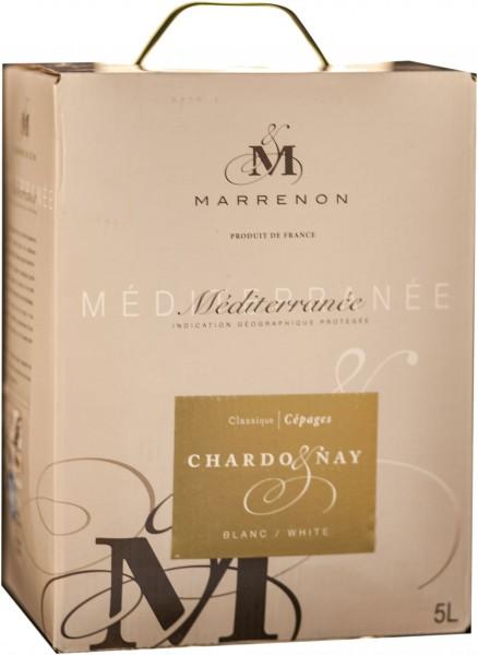 Chardonnay Marrenon französischer Weißwein 5 Liter im Weinschlauch